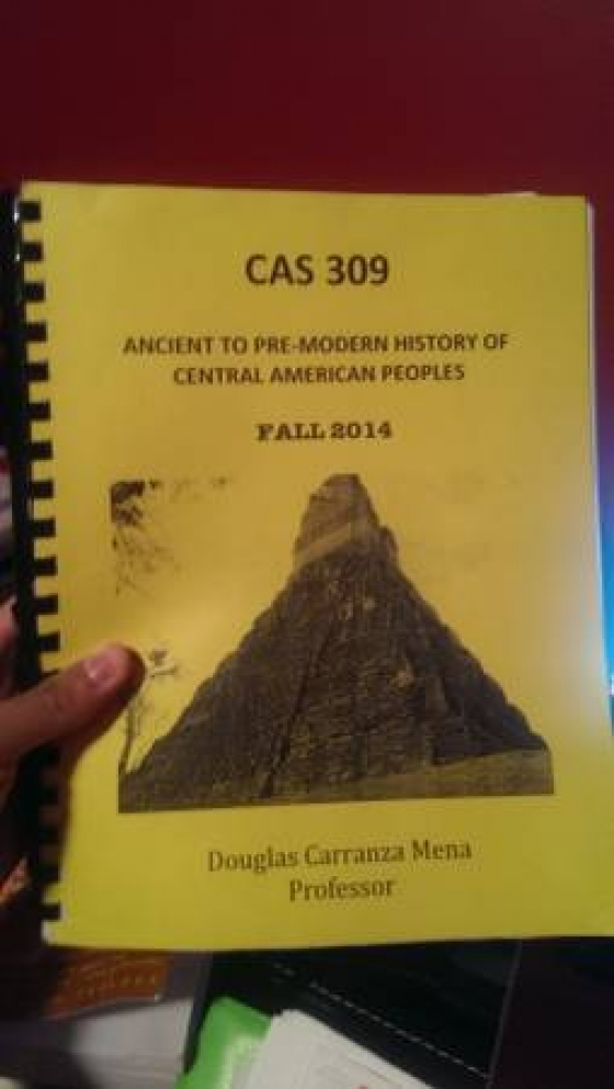 CAS309 Course Reader-Ancient to Pre-Modern History of Central American - $20 (Woodland Hills)