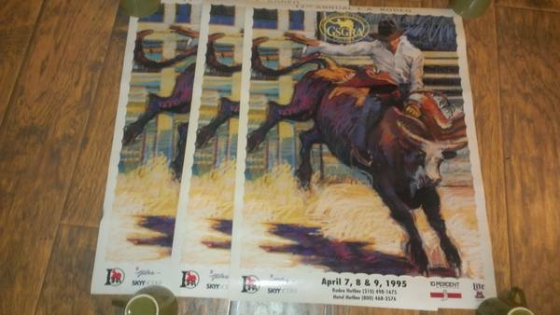 11th annual LA Rodeo 1995 Poster (3) 18x24 Each