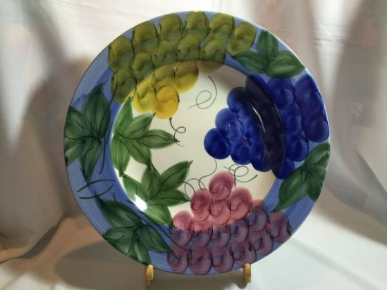 Large Colorful Decorative Plate - Made in Italy