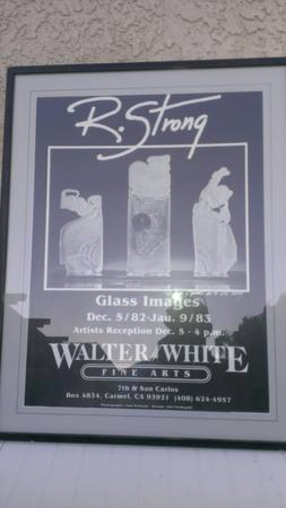 Signed framed matted Randy Strong Exhibit poster 1982 Glass Images