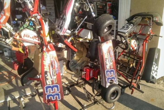 3 Cadet Race Karts with engines and spares