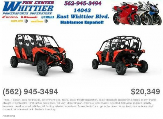 2016 Can-Am Maverick MAX DPS 1000R Can-Am Red