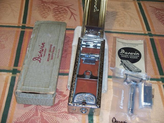 $200, darwin hollow ground safety razor