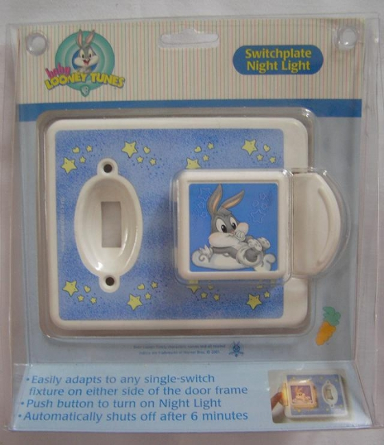 $5, Baby Loone Tunes Switchplate Night Light, NEW