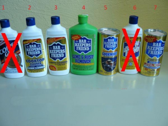 $1, Bar Keepers Friend Products
