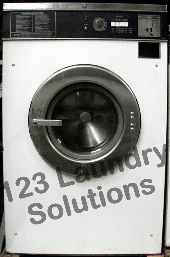 $1,099, Heavy Duty Maytag Front Load Washer 18lbs 120v White AT18MC1 Used