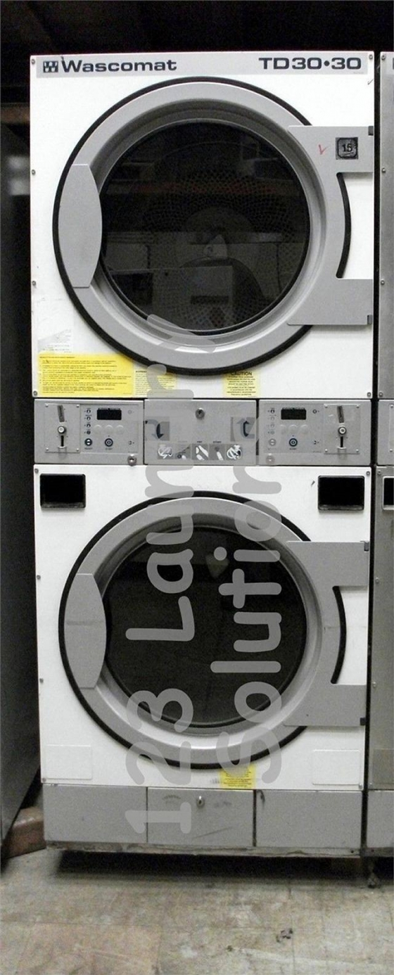 $1,700, Laundrymat Wascomat Double Stack Dryer White TD 30.30 Used Coin Drop