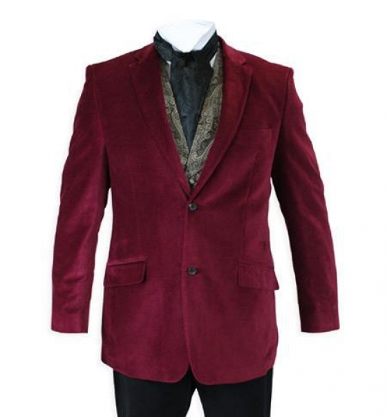 $139, Buy Online Stylish Mens Red And Blue Velvet Blazer For The Festive Occasions