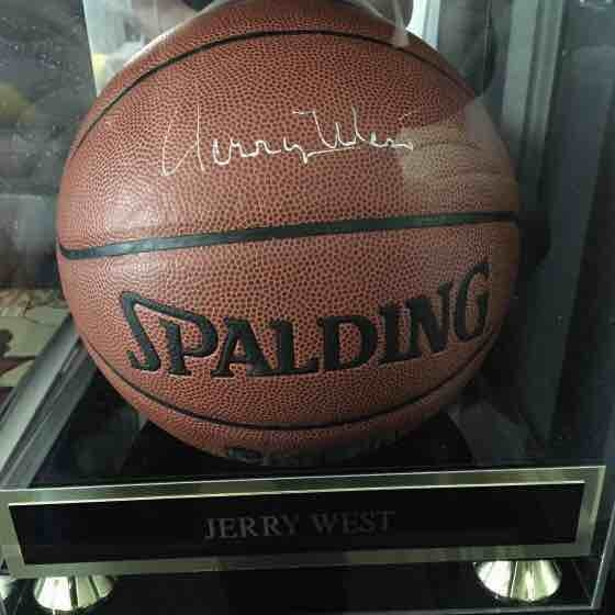 Jerry West Signed Ball