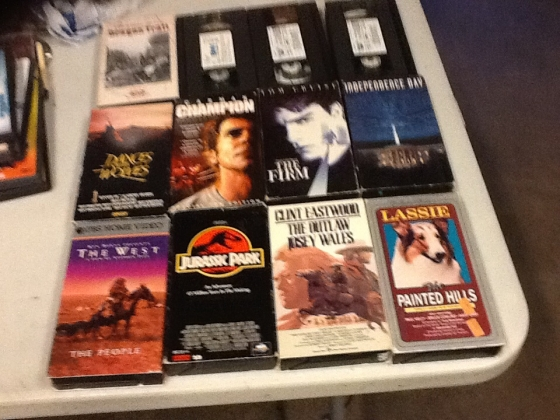 Home videos in VHS format