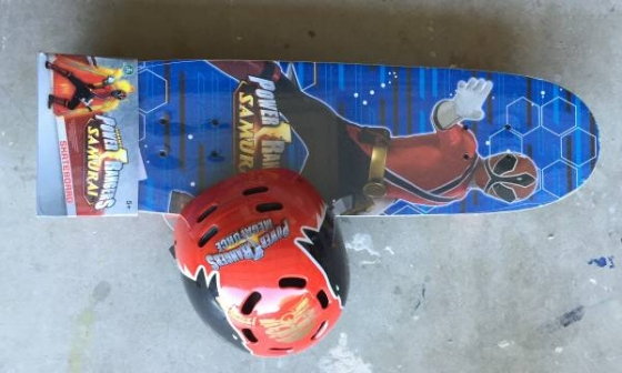 Power Rangers Samurai Skateboard & Megaforce Helmet