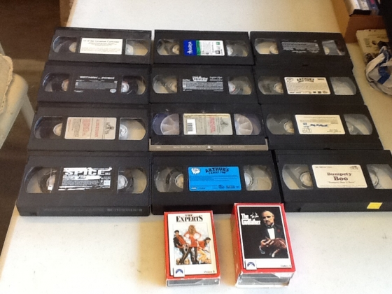 Movies in VHS format