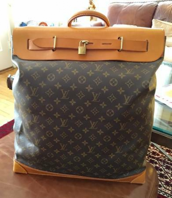 Authentic Louis Vuitton Monogram Canvas Steamer 45 Bag