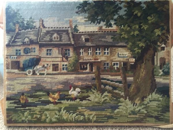 Antqiue / vintage needlepoint art