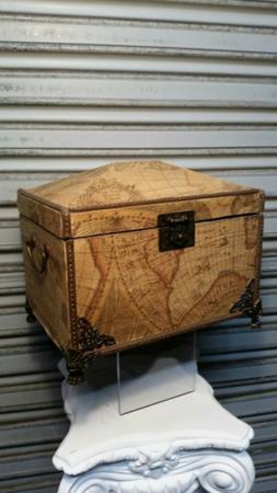 Beautiful Vintage Atlas Treasure Box
