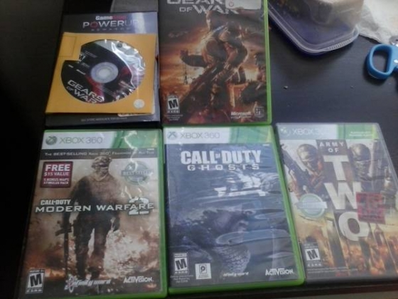 xbox 360 game lot. Call of duty Gears of War Halo John Woo and more!
