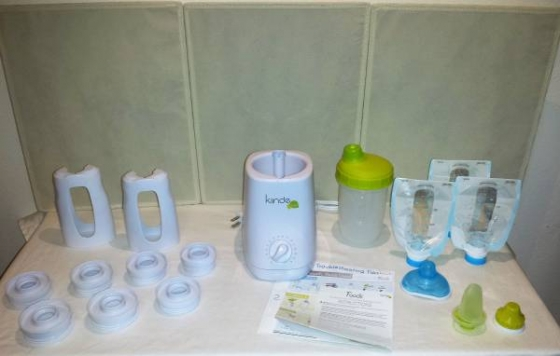 Kiinde Kozii Bottle Warmer and Breast Milk Warmer + Extras